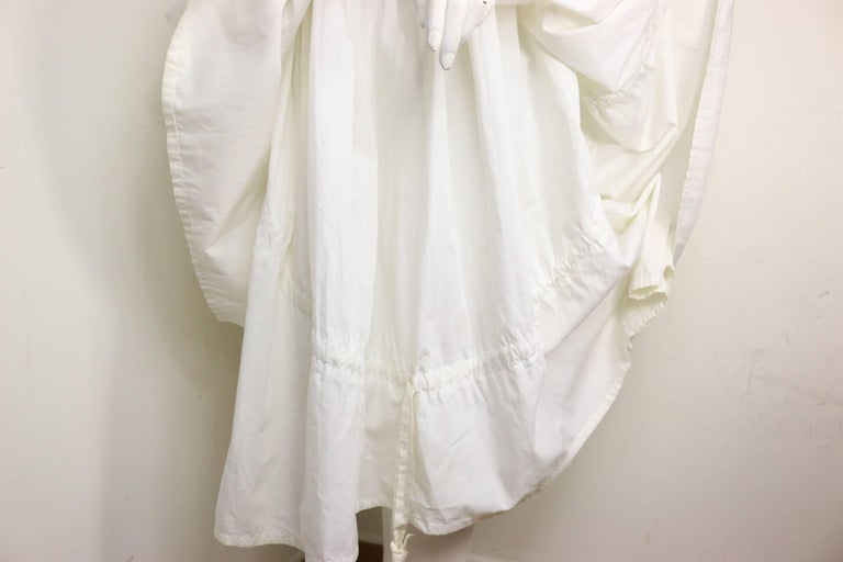 Dolce and Gabbana White Cotton Strapless Dress For Sale 1