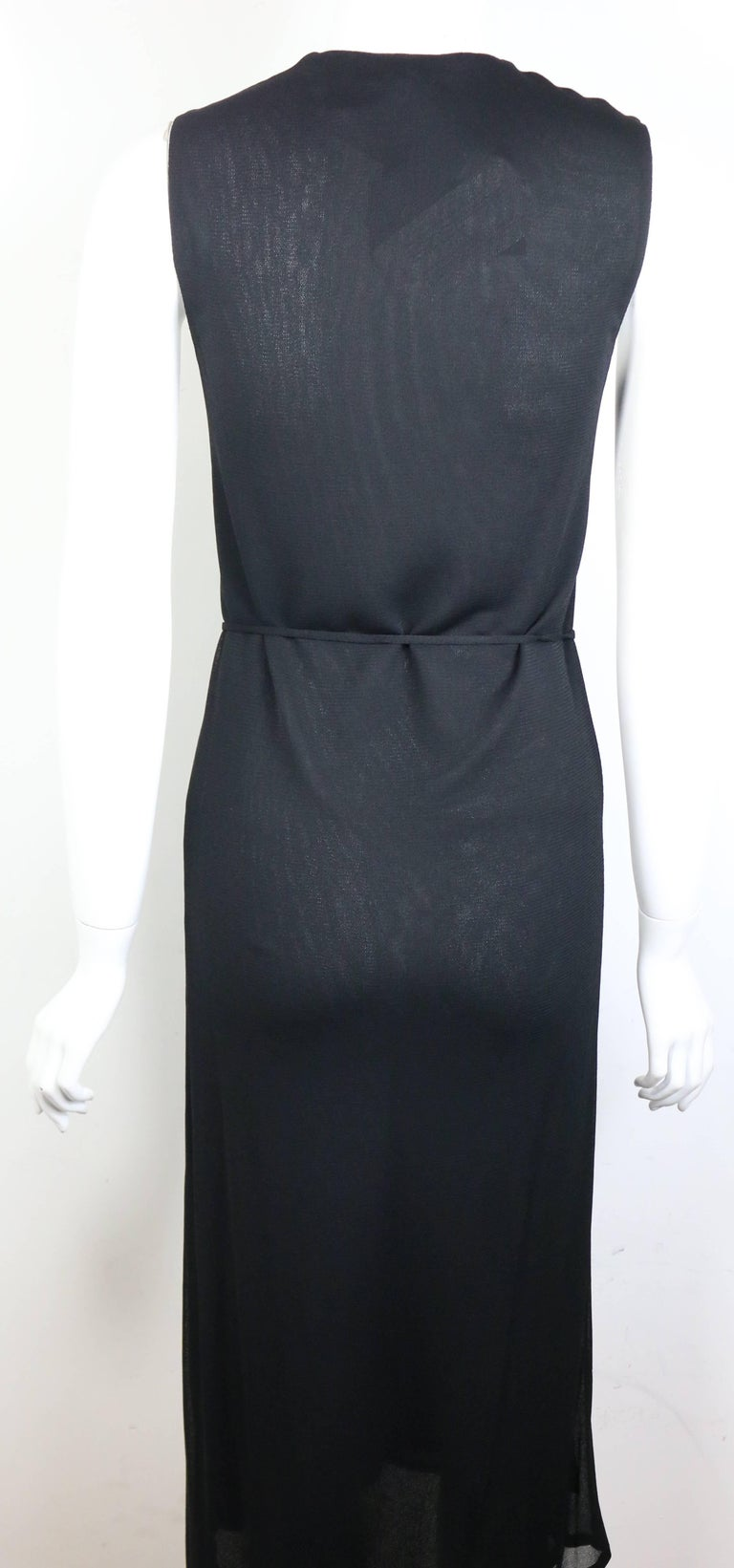 Gucci by Tom Ford Black V-neckline Dress  In New Condition For Sale In Sheung Wan, HK