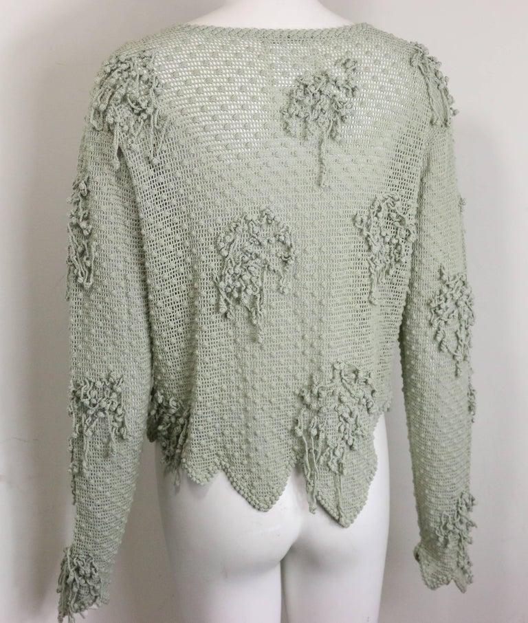Matsuda Green Knitted Jacket 2