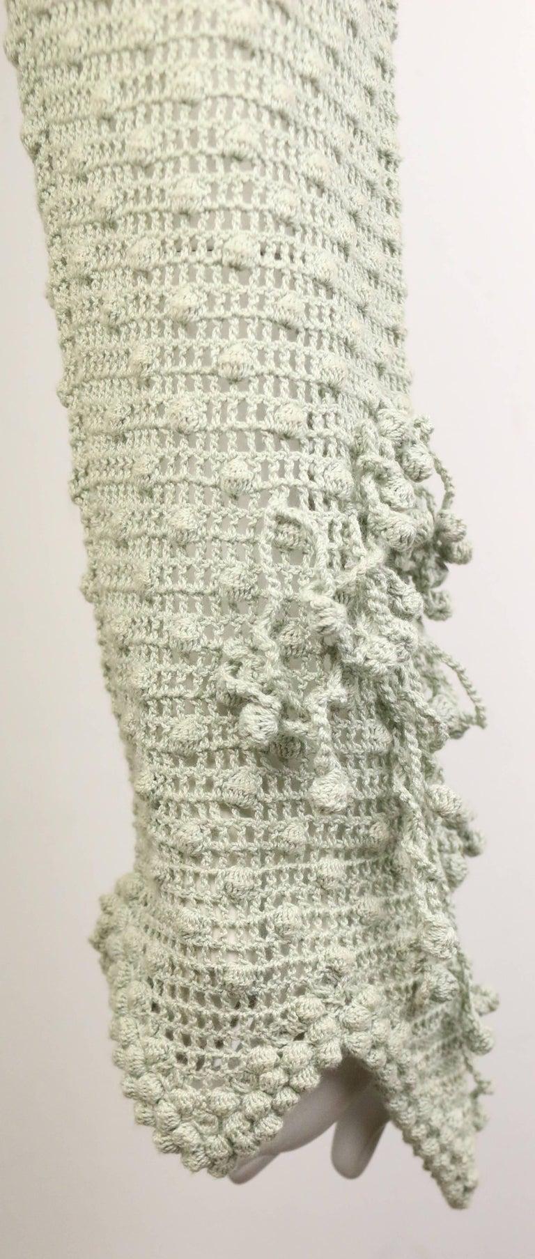Matsuda Green Knitted Jacket 4