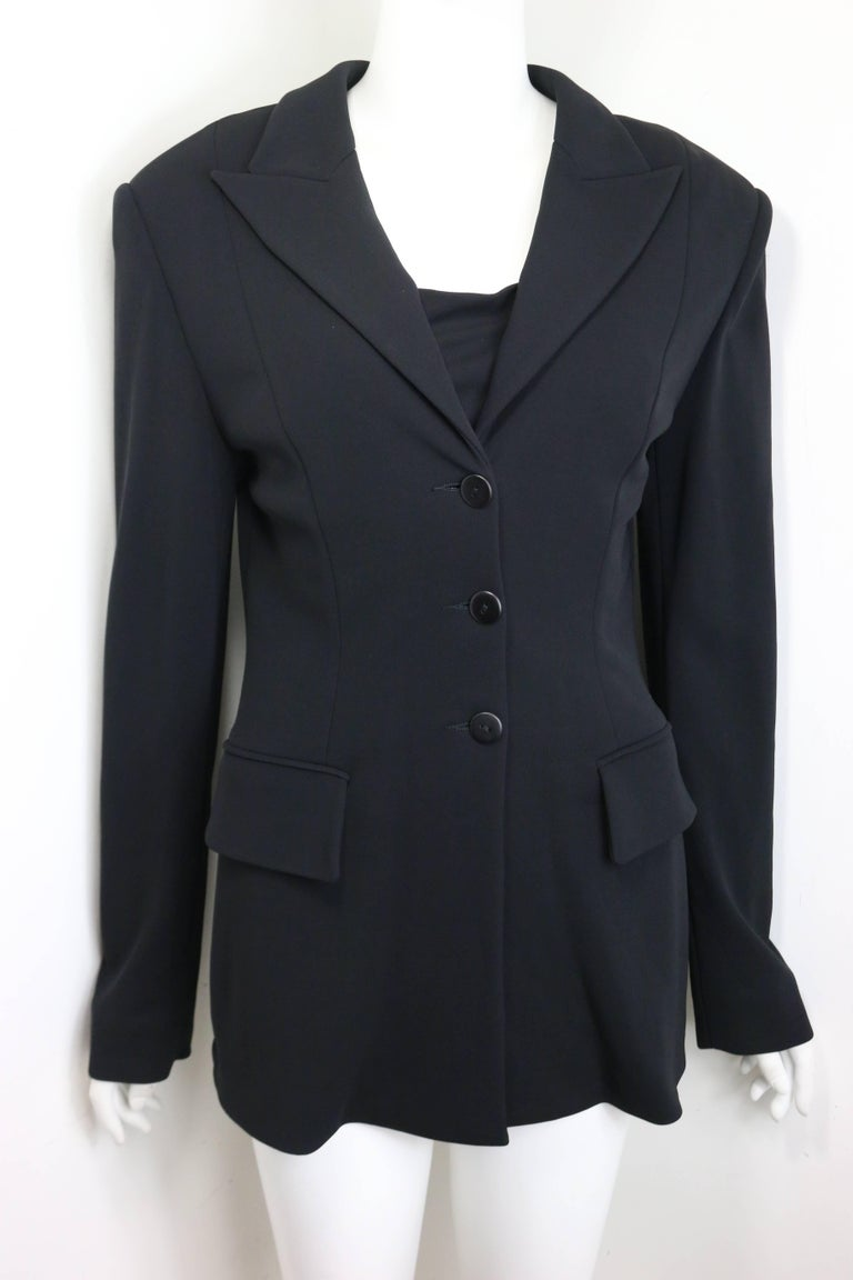 Women's Plein Sud Black Open Back Jacket with Tube Top For Sale