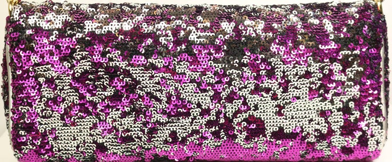Brown Dolce And Gabbana Multi Colour Sequins Shoulder Bag For Sale