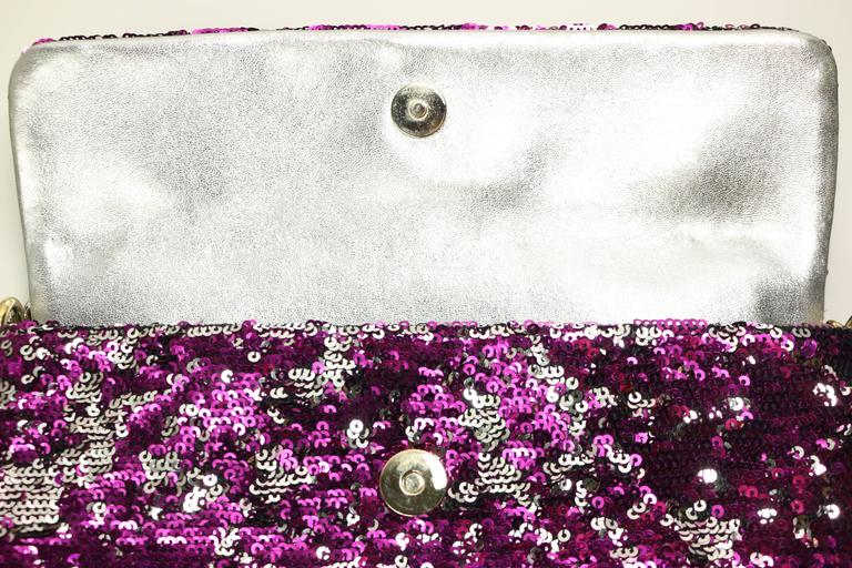 Dolce And Gabbana Multi Colour Sequins Shoulder Bag In Excellent Condition For Sale In Sheung Wan, HK