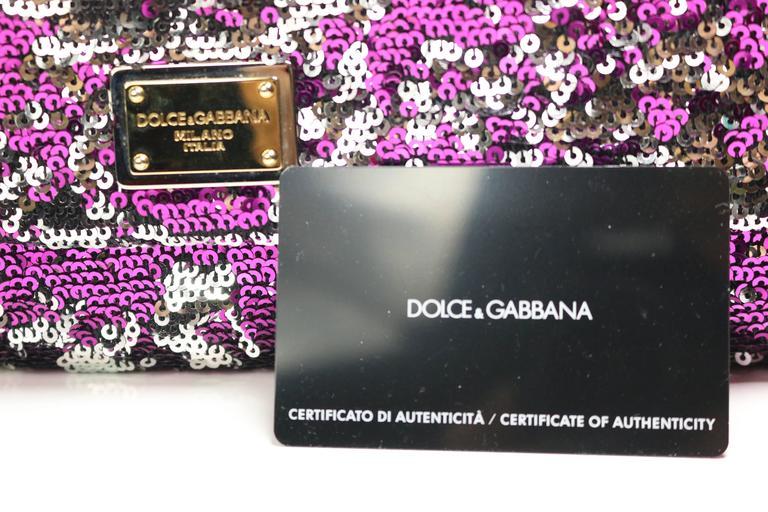 Dolce And Gabbana Multi Colour Sequins Shoulder Bag For Sale 3