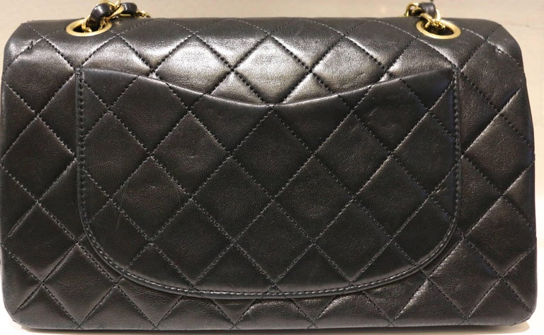 Chanel Classic Black Quilted Lambskin Double Flap Shoulder Bag 3