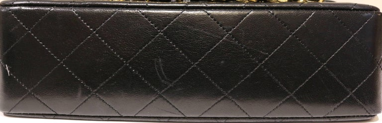 Chanel Classic Black Quilted Lambskin Double Flap Shoulder Bag 4