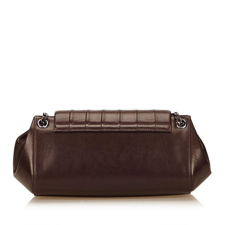 Chanel Brown Lambskin Leather Reissue Flap Shoulder Bag 3