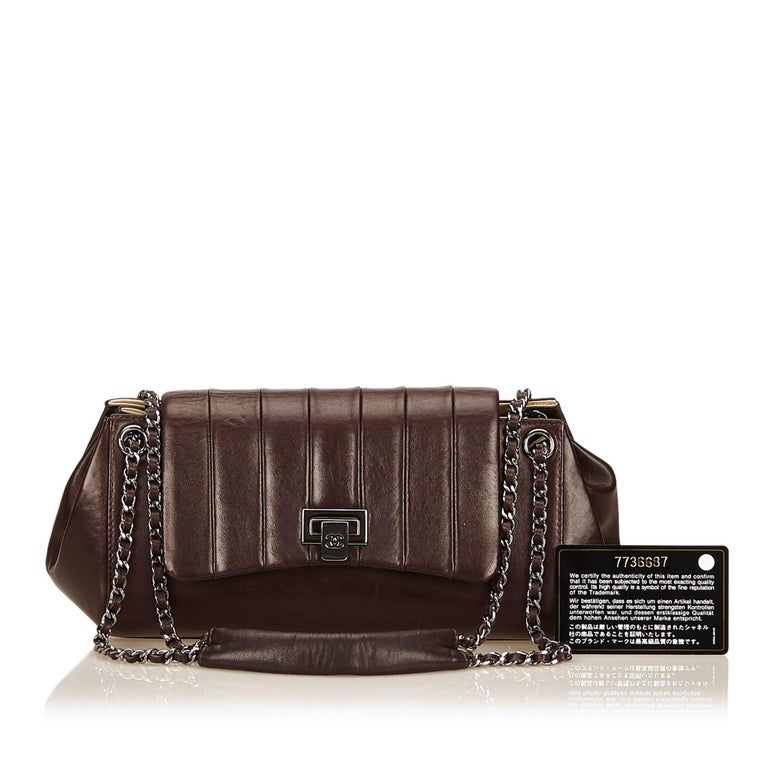 Chanel Brown Lambskin Leather Reissue Flap Shoulder Bag 7