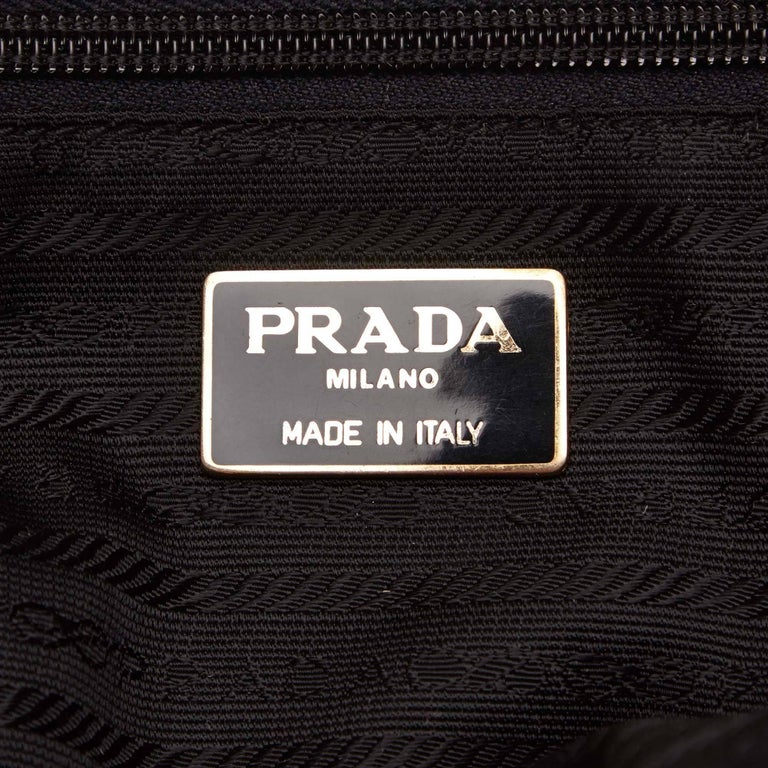 Prada Black Beaded Nylon Handbag with Tassels  5