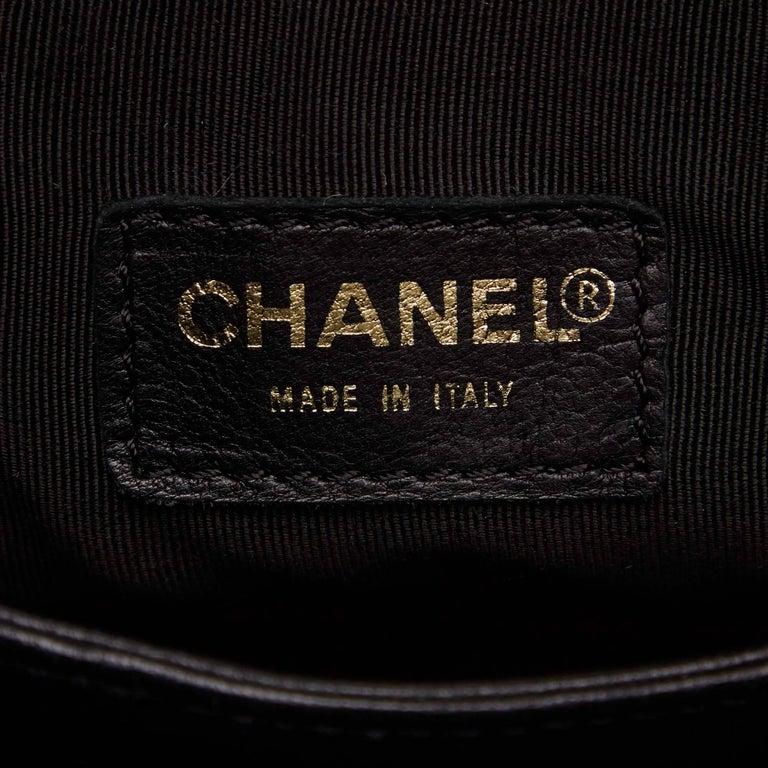 Chanel Black Leather Choco Bar Bucket Shoulder Bag 6