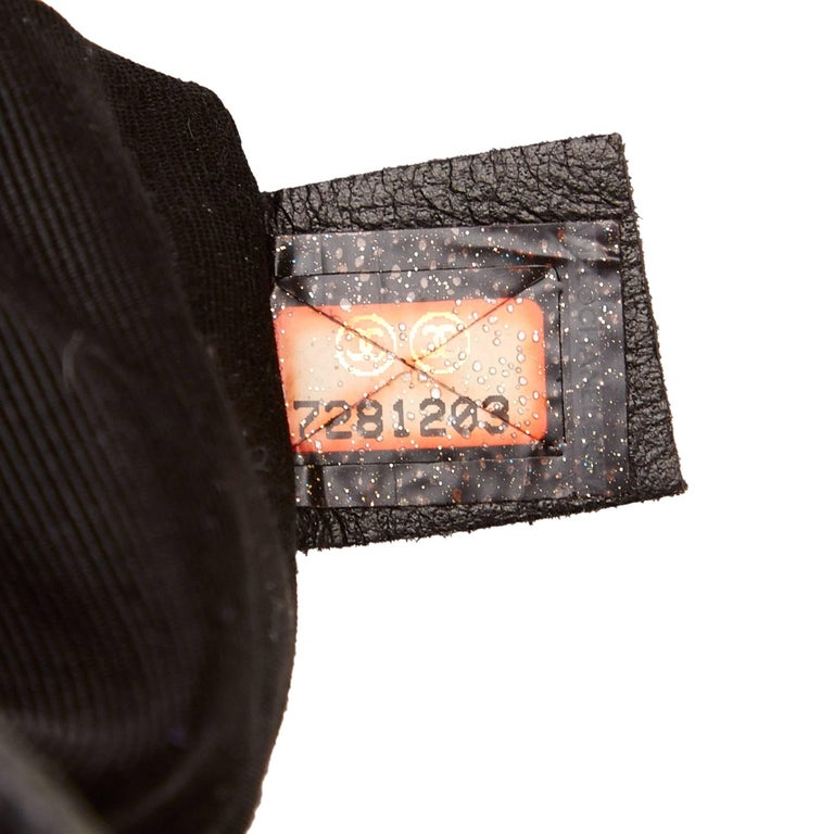 Chanel Black Leather Choco Bar Bucket Shoulder Bag 8