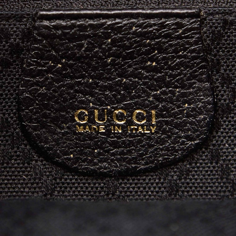 Gucci Black Suede Bamboo Backpack For Sale 1