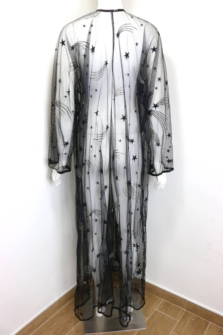 Women's Chanel Embroidered See Through Evening Dressing Gown For Sale