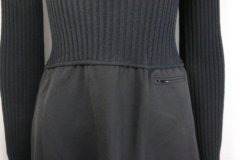 Women's 96 Gucci by Tom Ford Black Bi Fabrics Long Sleeves Turtleneck Dress  For Sale
