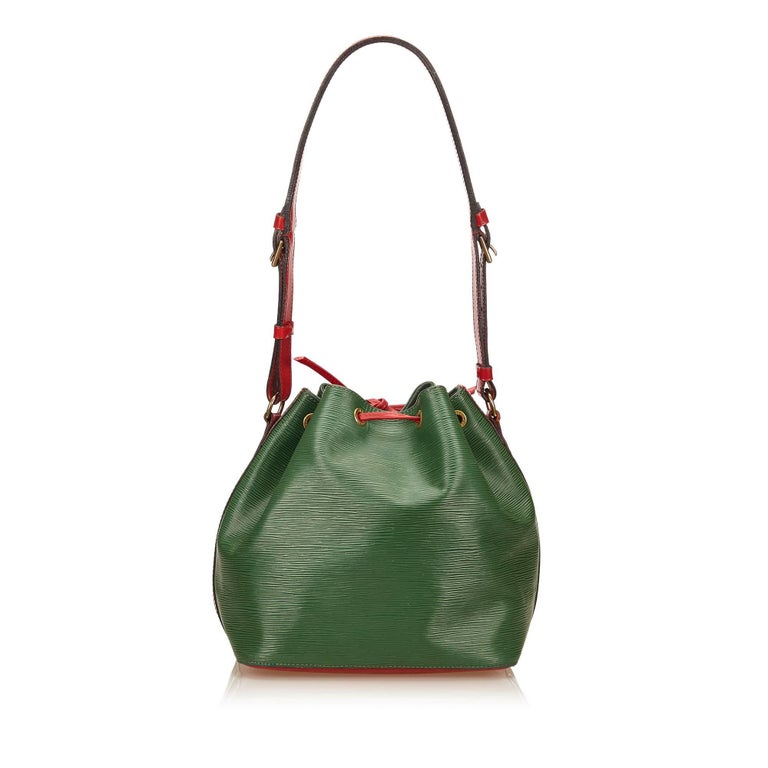 Louis Vuitton Epi Bicolour Green x Red Petit Noe In Excellent Condition For Sale In Sheung Wan, HK