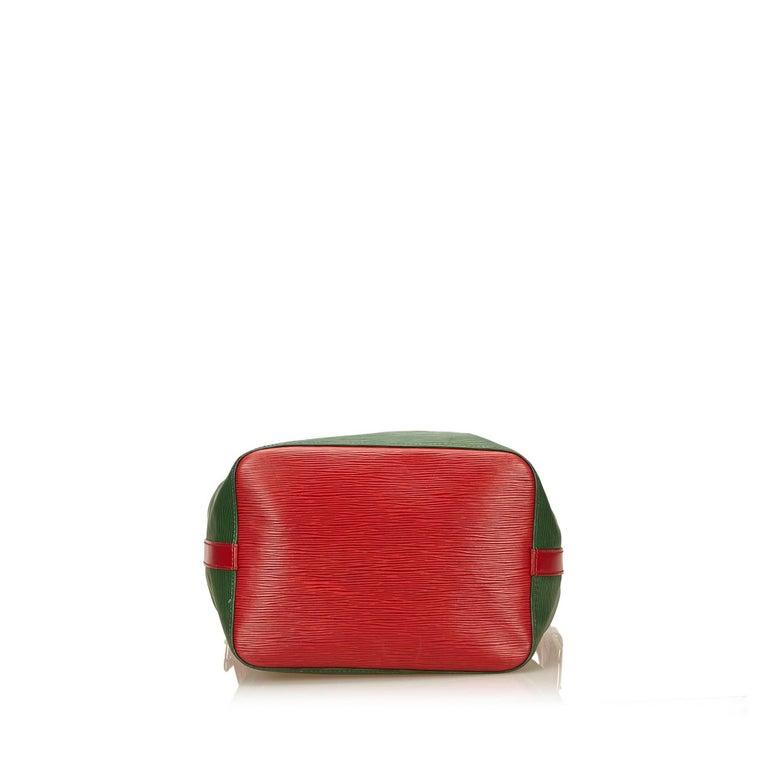 Women's Louis Vuitton Epi Bicolour Green x Red Petit Noe For Sale
