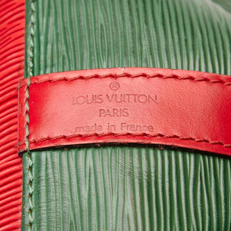 Louis Vuitton Epi Bicolour Green x Red Petit Noe For Sale 1