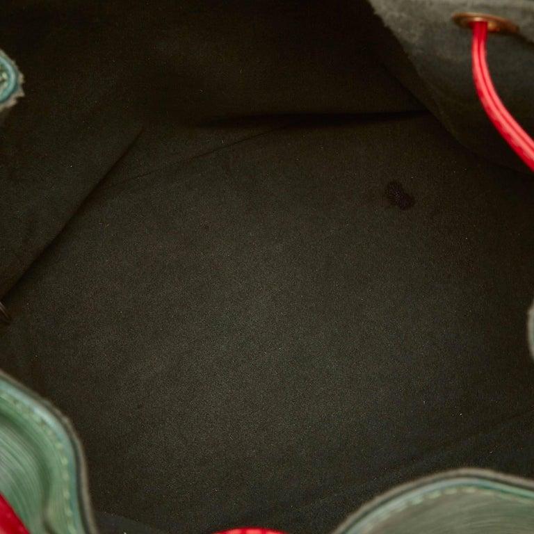 Louis Vuitton Epi Bicolour Green x Red Petit Noe For Sale 3