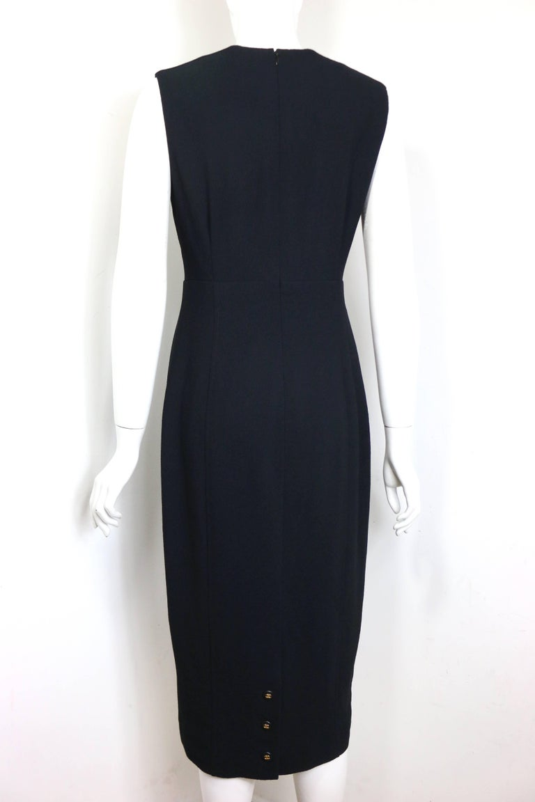Chanel Classic Black Wool Long Dress  4