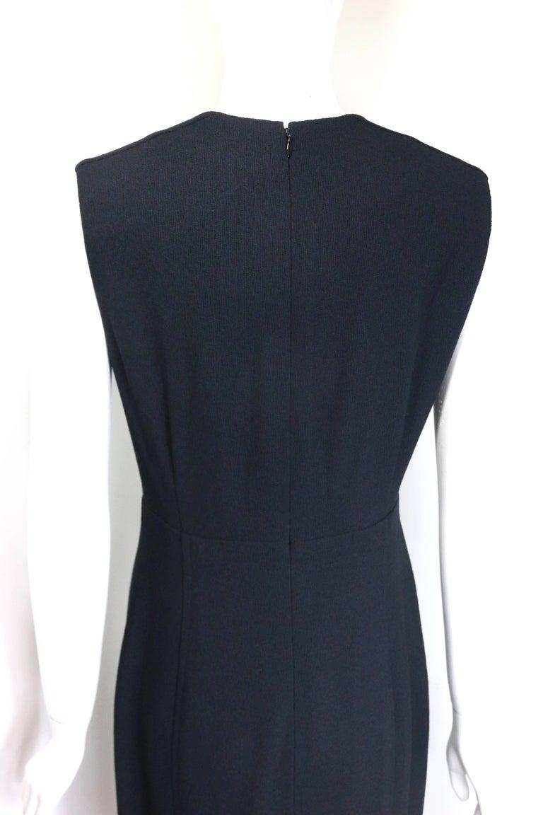 Chanel Classic Black Wool Long Dress  For Sale 2