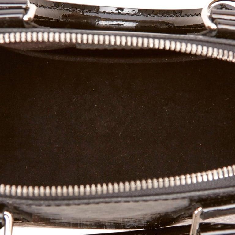 Louis Vuitton Black Epi Alma BB Shoulder Bag For Sale 2