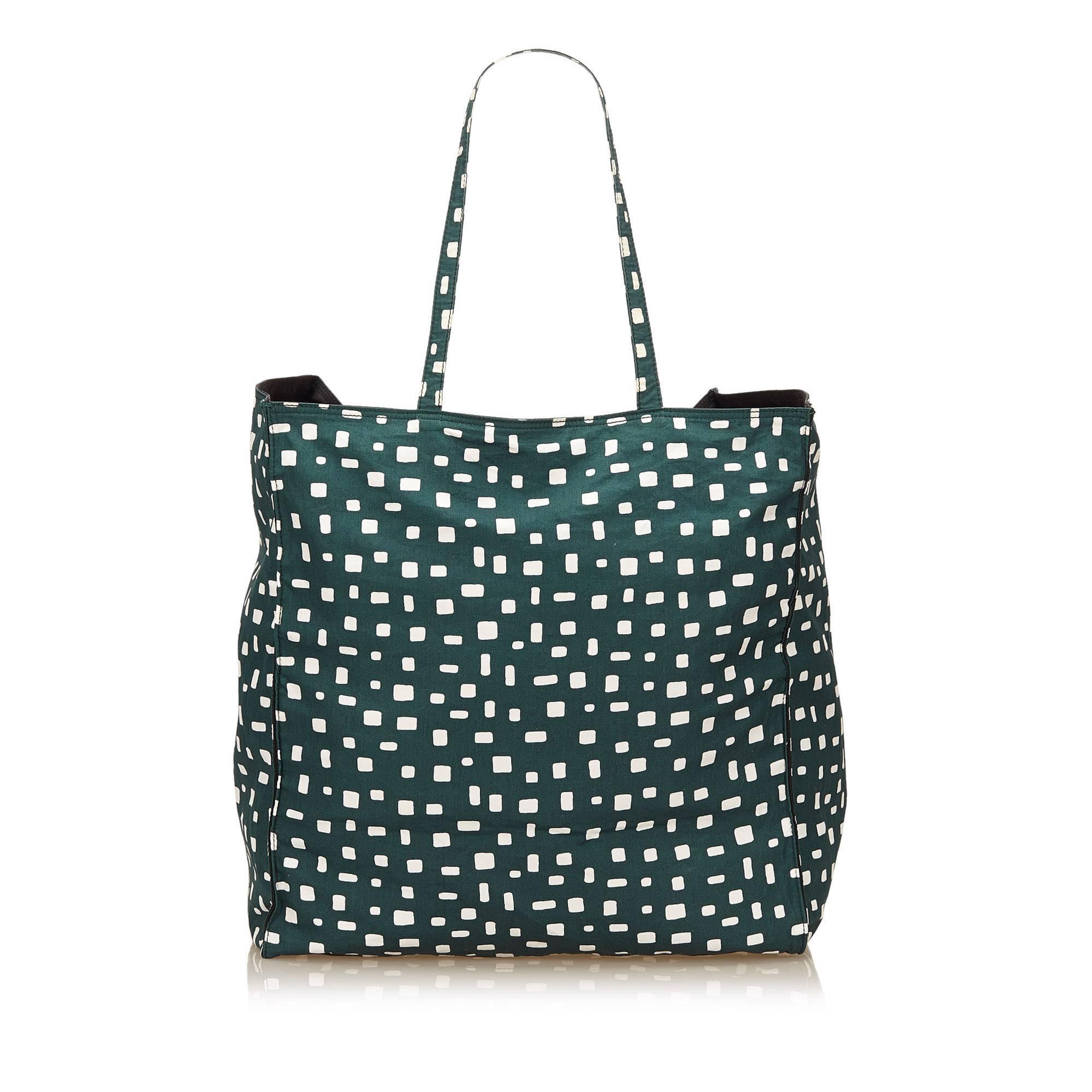 6284cdcc1ff8 ... usa prada dark green and white pattern nylon tote bag tkxj0vc 11d82  a8623