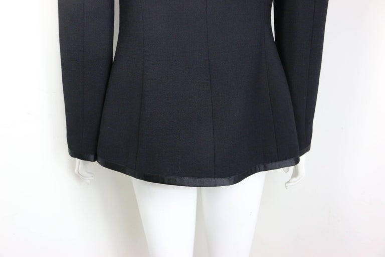 Chanel Black Wool and Silk Jacket with Faux