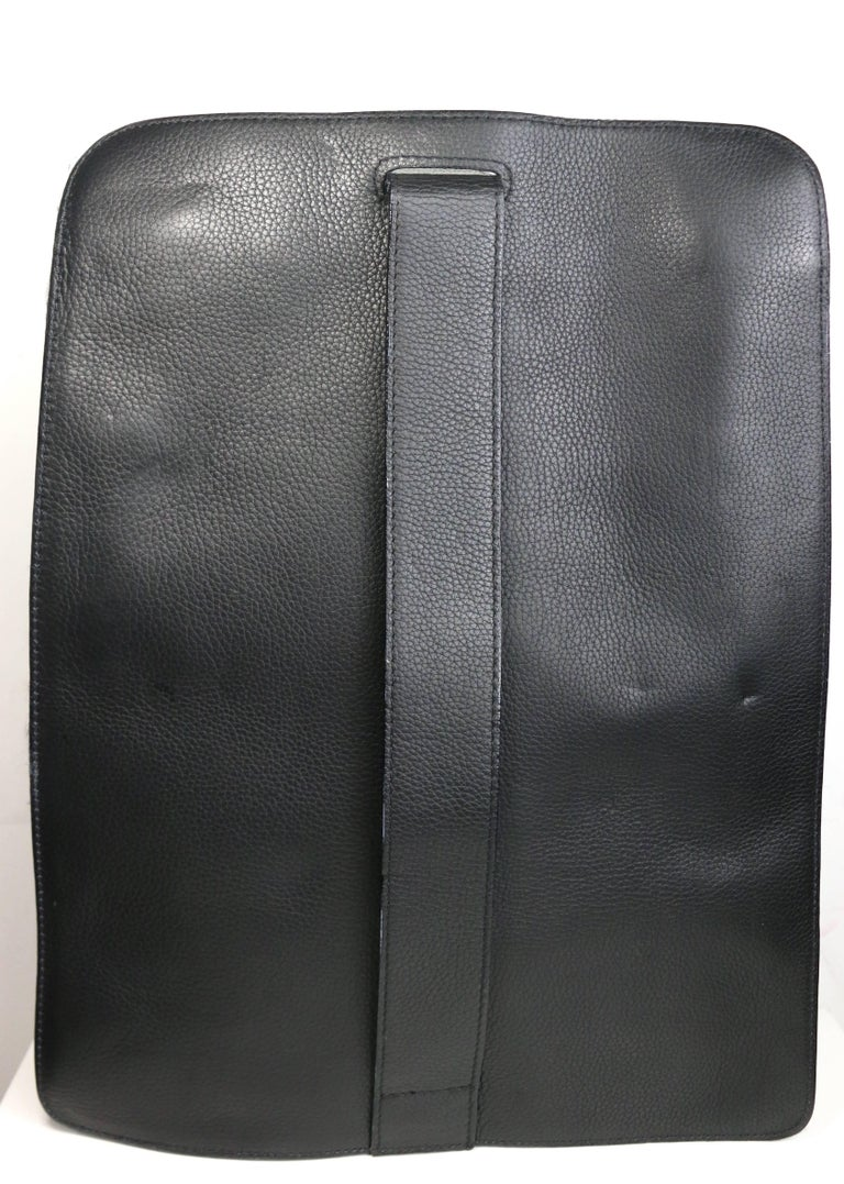 Gianni Versace Couture Black Leather Single Sling Strap Bag 3