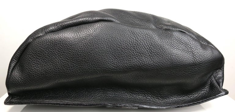 Women's or Men's Gianni Versace Couture Black Leather Single Sling Strap Bag For Sale