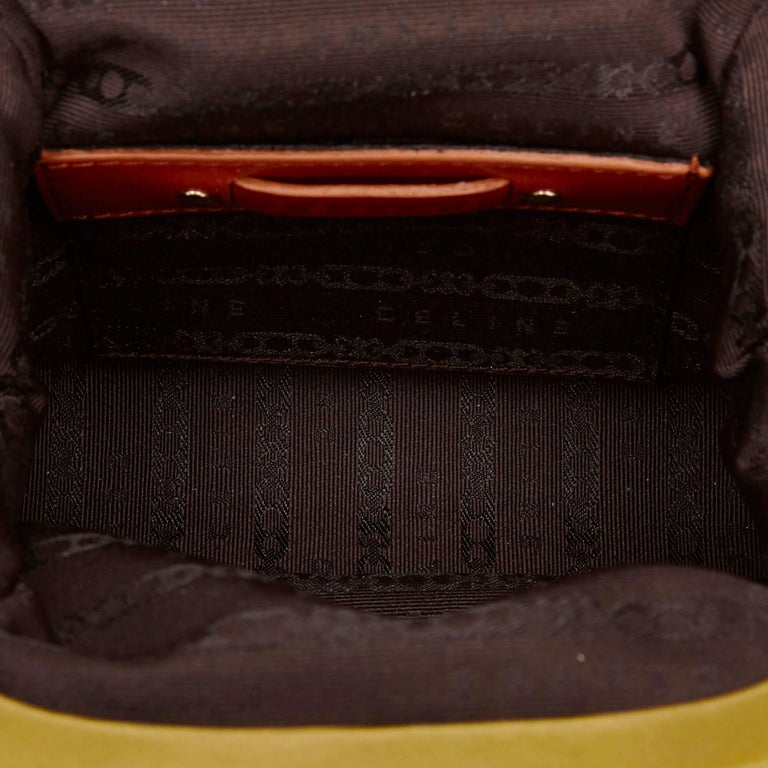 Celine Biege Cotton Mini Luggage Tote Bag For Sale 1