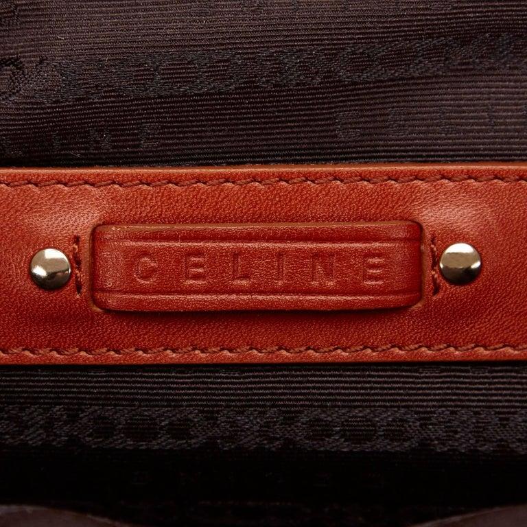 Celine Biege Cotton Mini Luggage Tote Bag For Sale 2