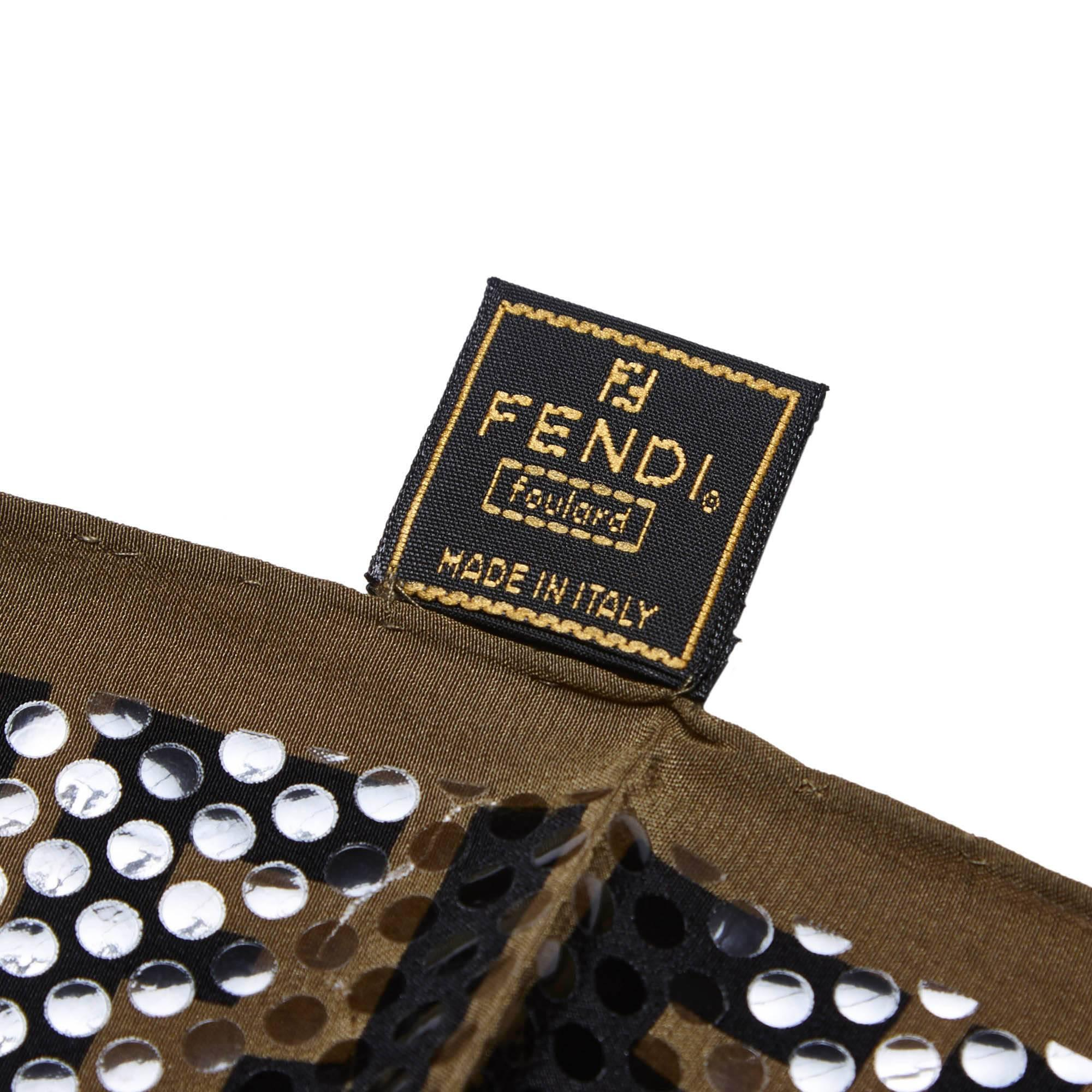 a6c48ea53b7 1234 b041e bd1e7  sweden womens or mens fendi polka dotted zucca pattern  silk scarf for sale 12f95 c25a2