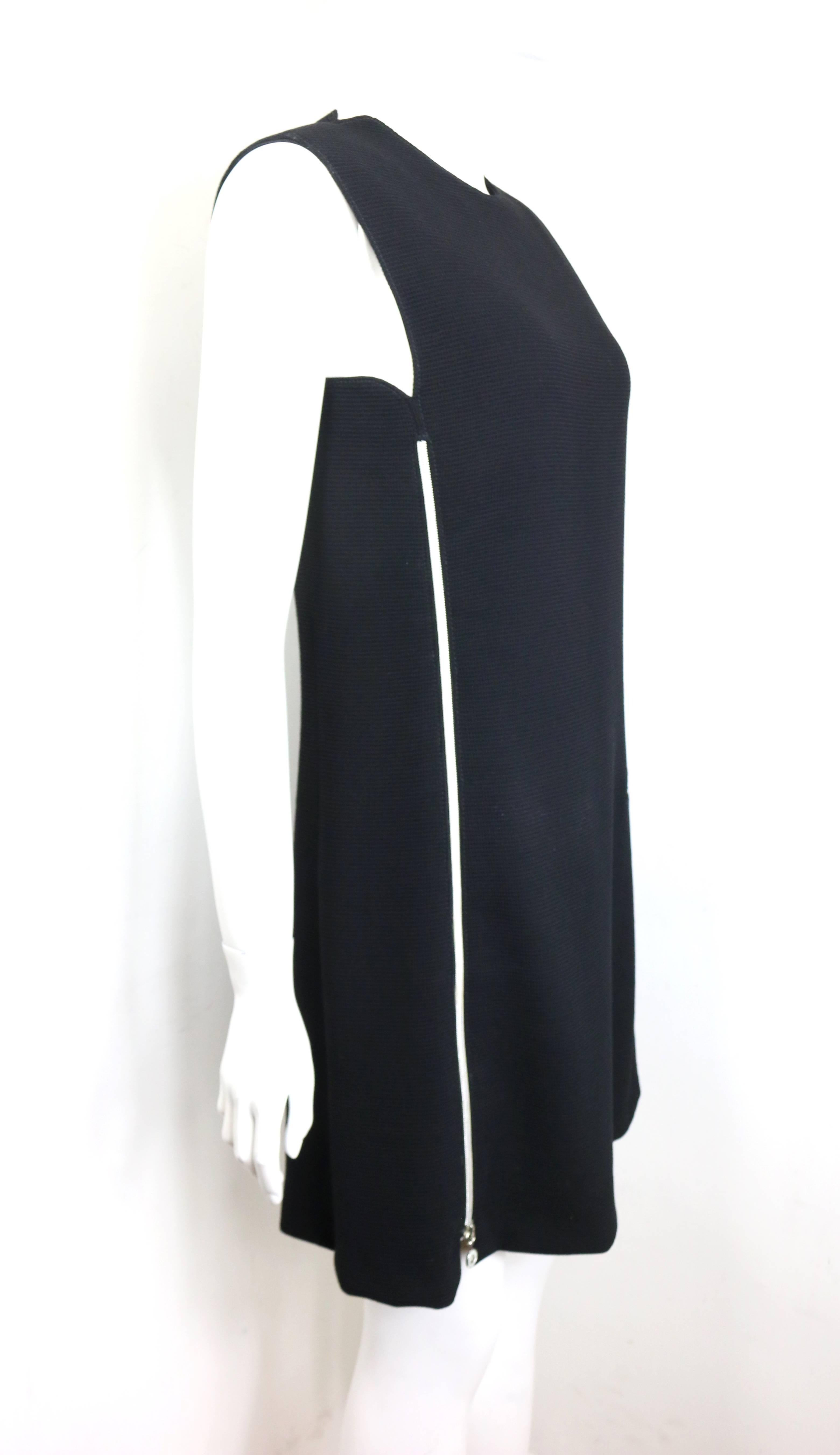 c5cf08bee4e Gianni Versace Couture Black Dress With Medusa Zippers For Sale at 1stdibs