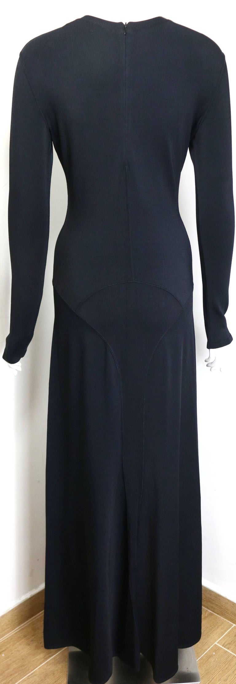 Alaia Black Long Sleeves BodyCon Maxi Dress  In New never worn Condition For Sale In Sheung Wan, HK