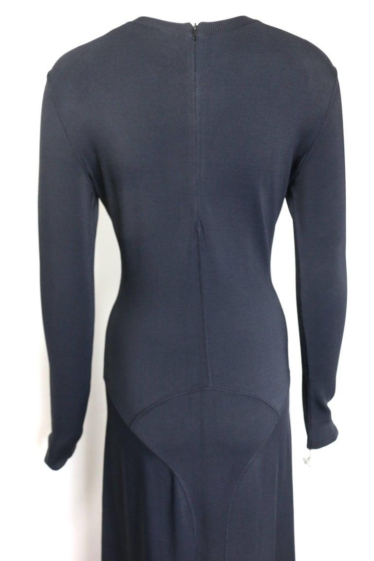 Women's Alaia Black Long Sleeves BodyCon Maxi Dress  For Sale