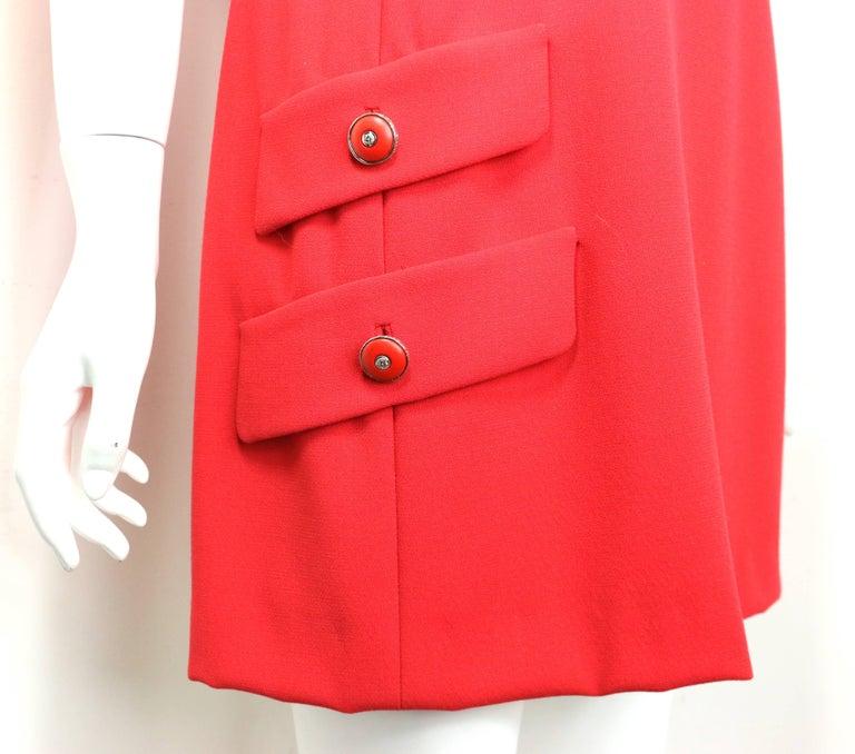 Women's Gianni Versace Red Medusa Wool Sleeveless Dress  For Sale