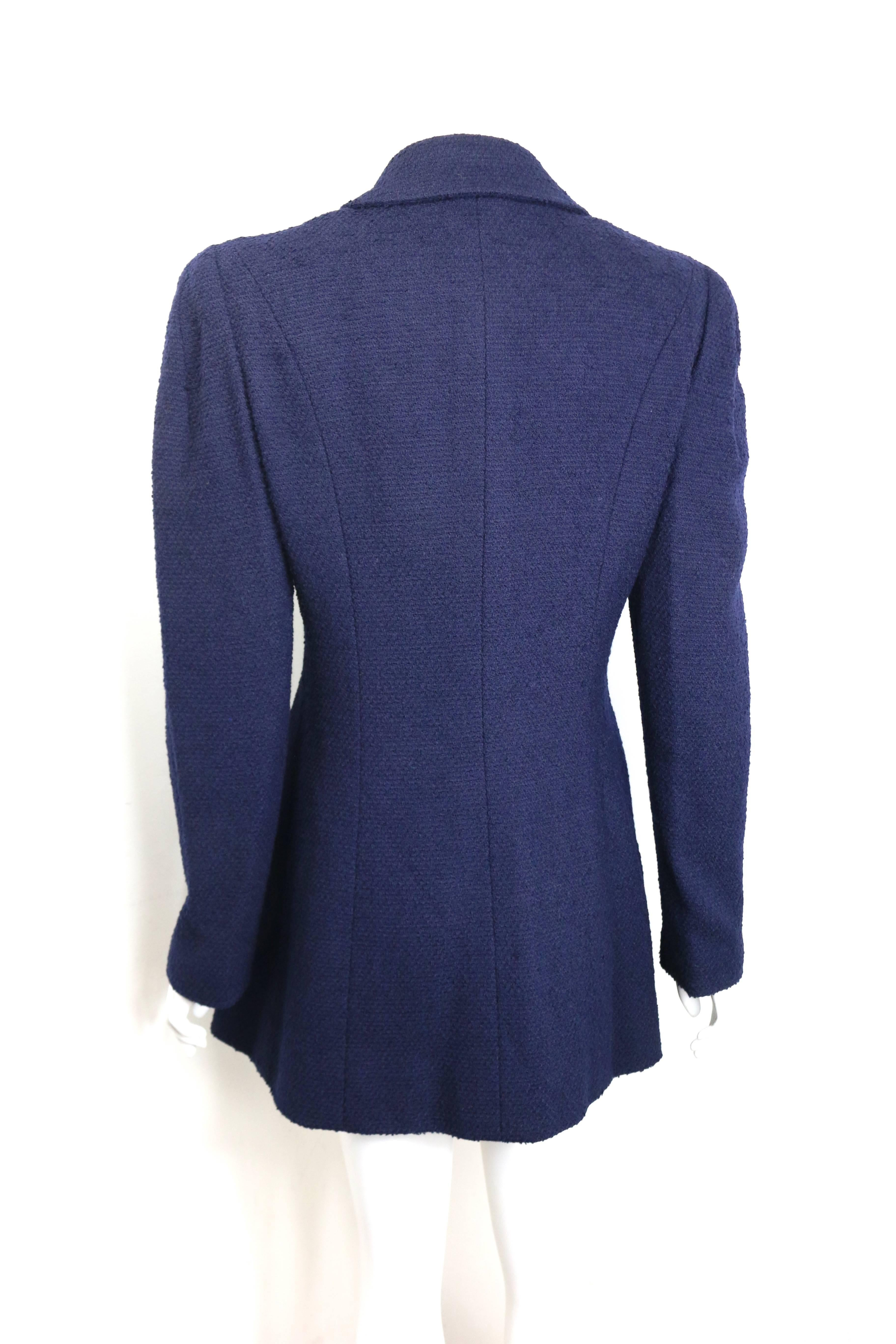 7243674ff Chanel Dark Navy Boucle Wool Jacket