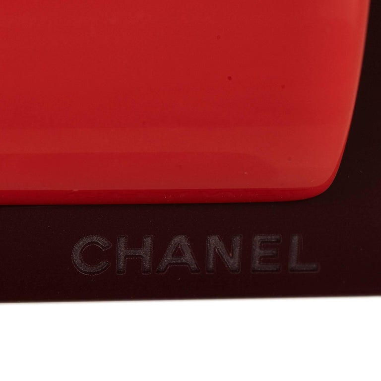 Chanel White Patent Leather with Red Buckle Belt 6
