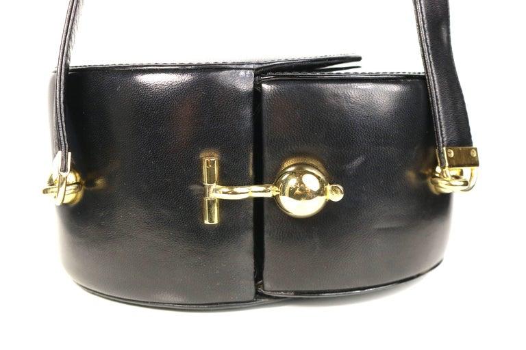 1stdibs Franco Bellini Black Lambskin/patent Leather Round Shoulder Bag UJlyfR