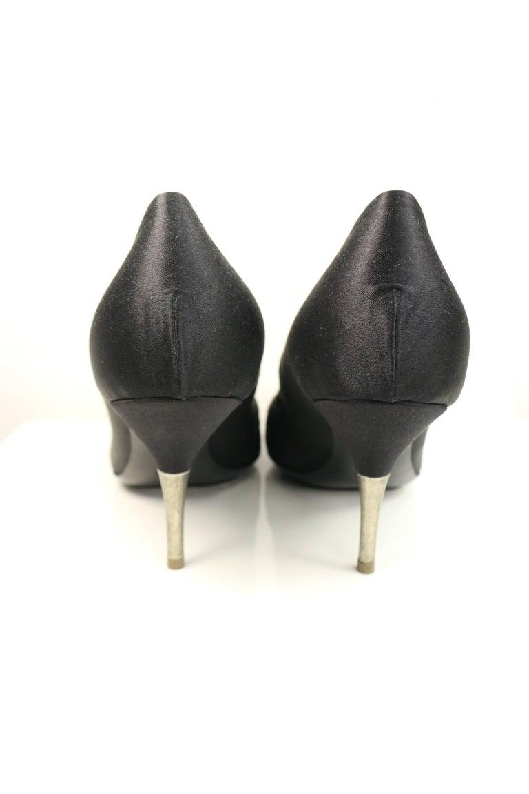 Brown Dries Van Noten Black Silk with colours sequins Pumps For Sale