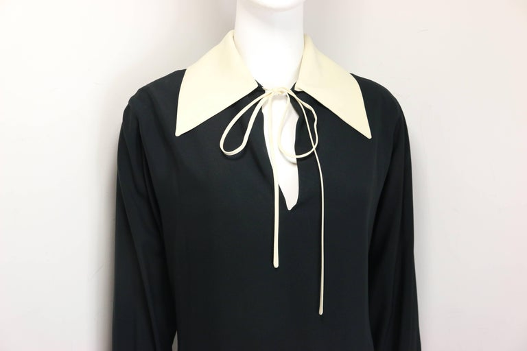 Moschino Couture Black Tunic Shirt with Symbols  In New Condition For Sale In Sheung Wan, HK