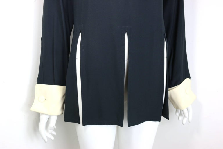 Moschino Couture Black Tunic Shirt with Symbols  For Sale 2