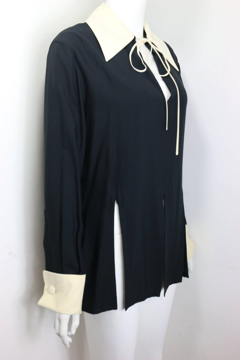 Women's or Men's Moschino Couture Black Tunic Shirt with Symbols  For Sale