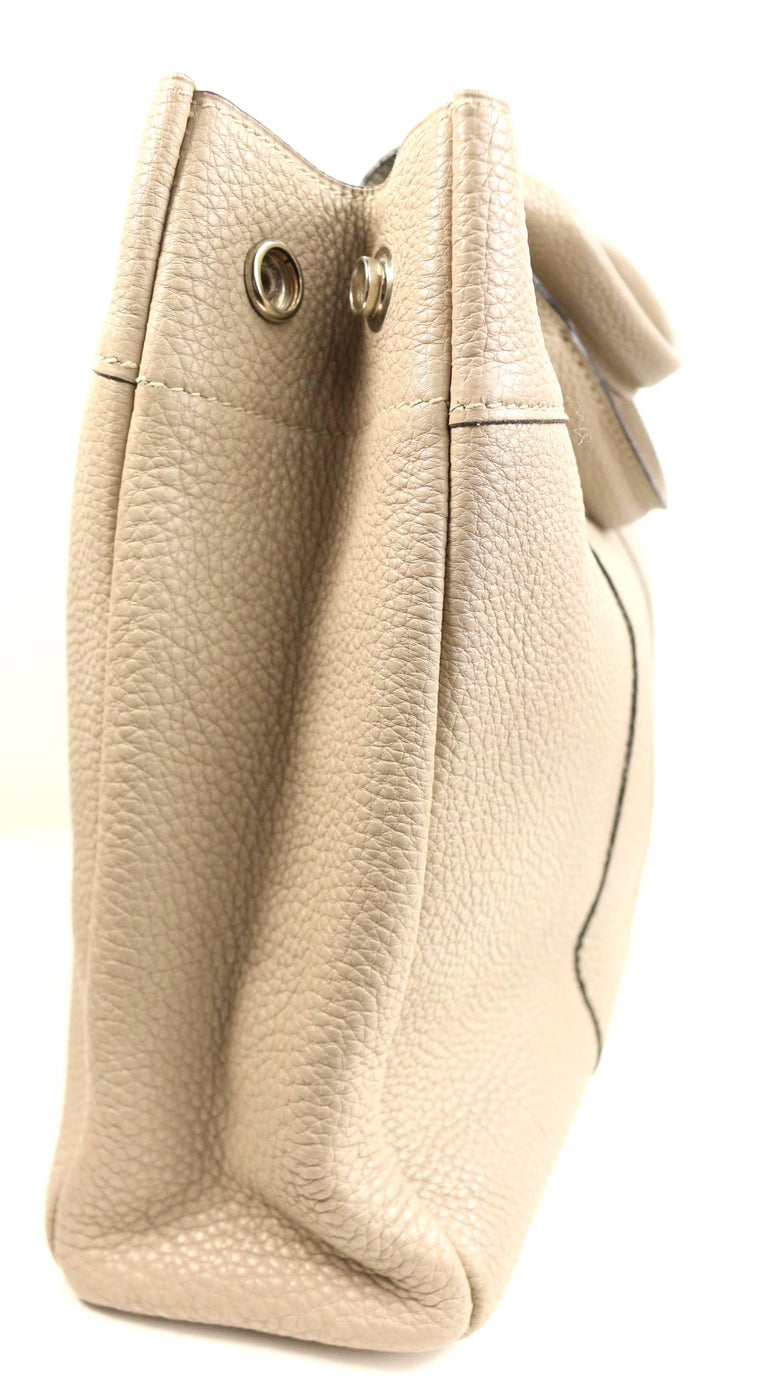 Beige Hermes Gris Tourterelle Gray Deauville Pm Bag