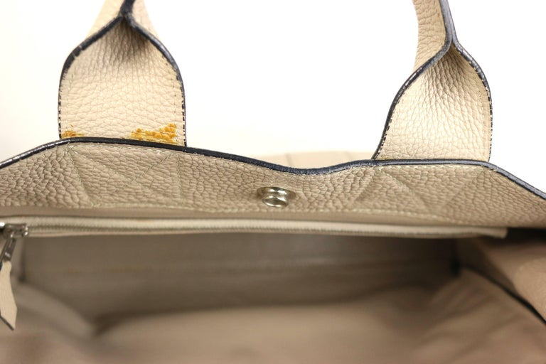 Hermes Gris Tourterelle Gray Deauville Pm Bag 1