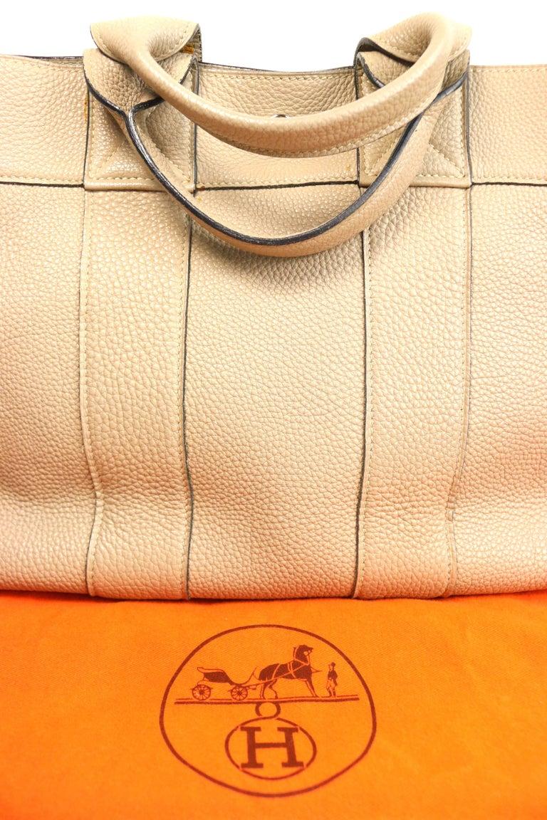 Hermes Gris Tourterelle Gray Deauville Pm Bag 2