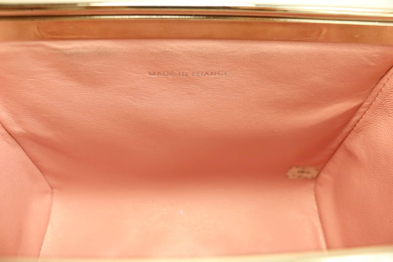 Chanel Pink Quilted Lambskin Leather Box Handbag For Sale 2