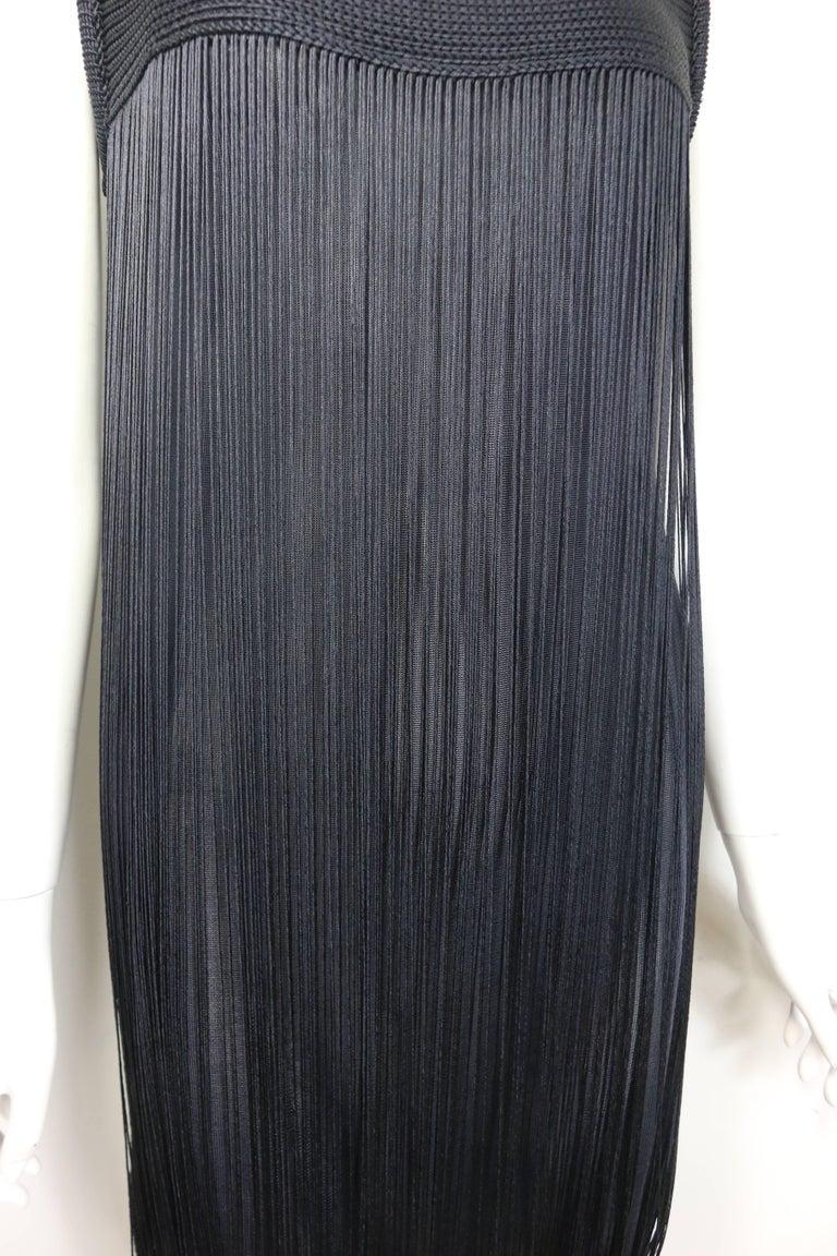 Black Jil Sander Navy Knitted with Fringe Dress For Sale