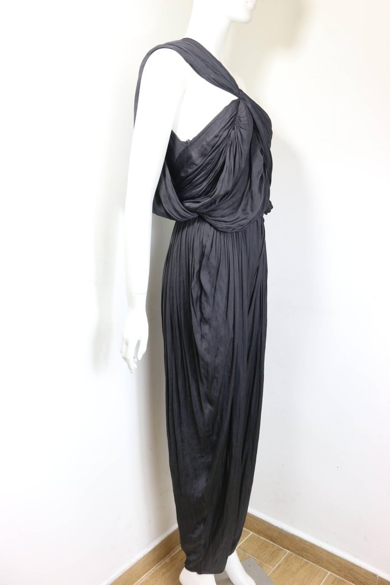 - Lanvin black silk jumpsuit from the year 2010 collection.   - Size 40.   - 83% Polyester, 17% Polyamide. Second Fabric: Silk.