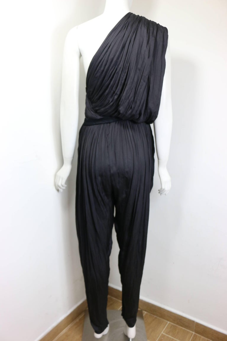 Women's Lanvin Black Silk Jumpsuit For Sale